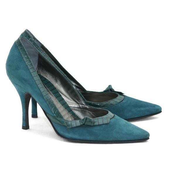 0b35310f5d Banana Republic Shoes | Green Suede Crocodile Pumps Nwt | Poshmark
